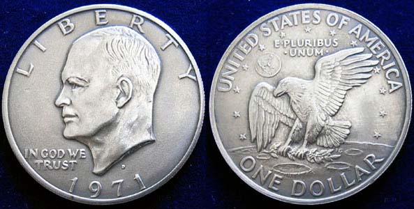 Numismatik Cafe Thema Anzeigen Usa One Dollar Eisenhower 1971