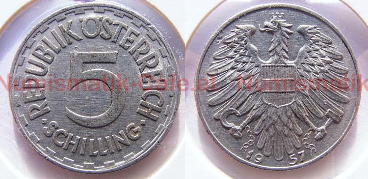 Numismatik Cafe Bild Ansehen 5 Schilling 1957